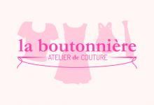 La boutonniere à Reims, création du logo et de l'identité visuelle. Graphisme.
