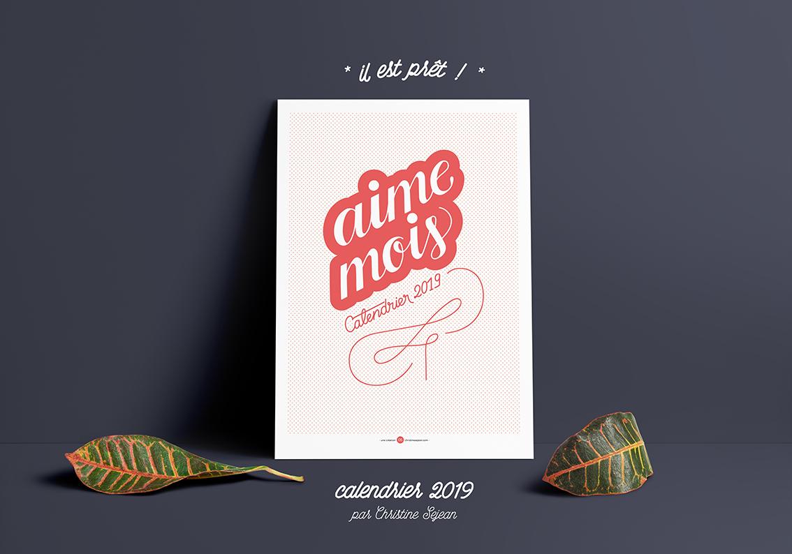 Poster MockUp Vert and Horiz Calendrier aime mois   2019