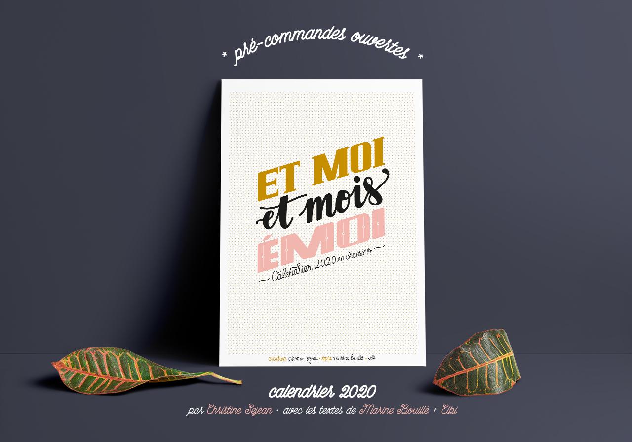 Poster MockUp Vert and Horiz2020bis Calendrier 2020   Et moi, et mois, émoi
