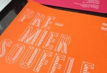 Flyer, sérigraphie, freelance, graphiste, Reims, Christine Sejean, identité visuelle, origami, papier, encre blanche